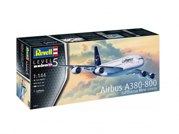 03872 Revell Airbus A380-800 Lufthansa New Livery (1:144)