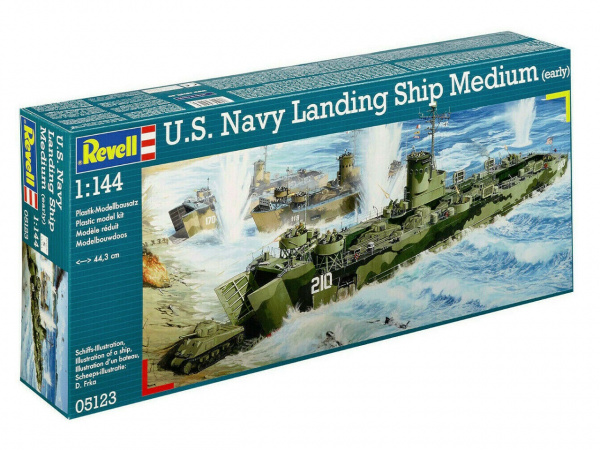 05123 Revell Корабль U.S. Navy Landing Ship Medium (1:144)