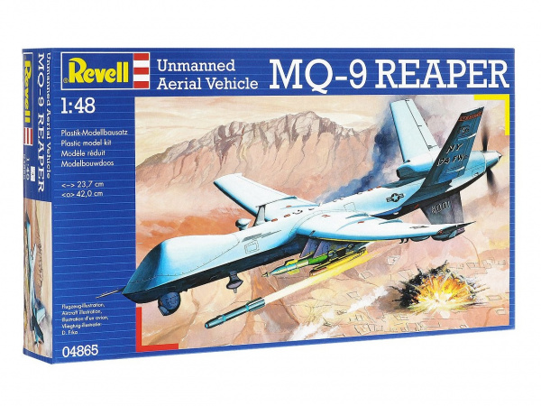 04865 Revell Американского беспилотник MQ-9 Reaper Unmanned Aerial V (1:48)