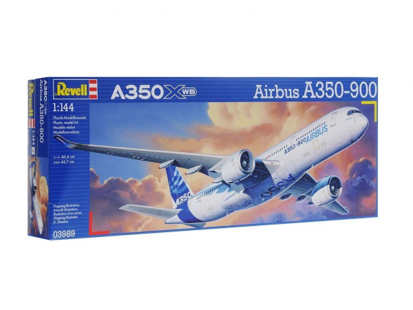03989 Revell Пассажирский авиалайнер Airbus A350 (1:144)