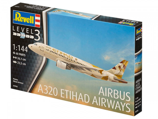 03968 Revell Пассажирский лайнер Airbus 320 (1:144)