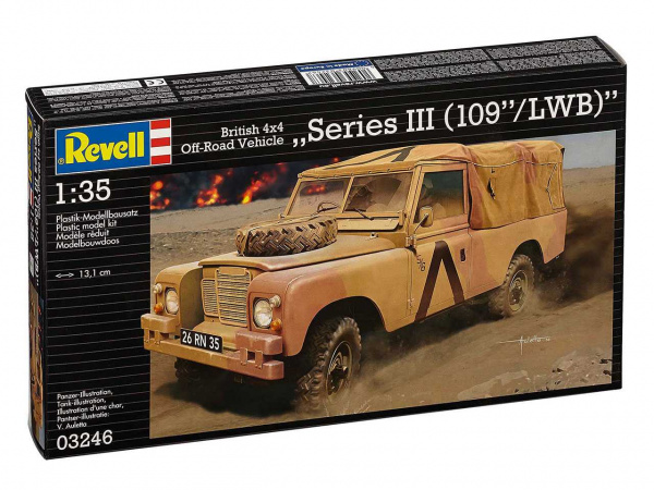 03246 Revell Британски внедорожник Land Rover Series III 109 /LWB British 4x4 Off-Road Vehicle(1:35)